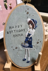 エマちゃん刺繍